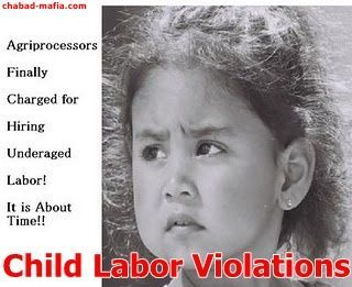 illegal child labor violations at agriprocessors