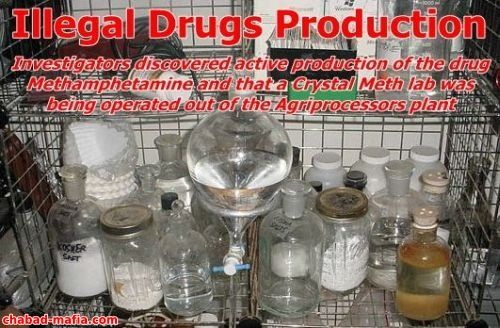 illegal drugs production in agriprocessors